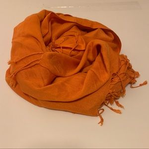 Orange pashmina scarf/ wrap